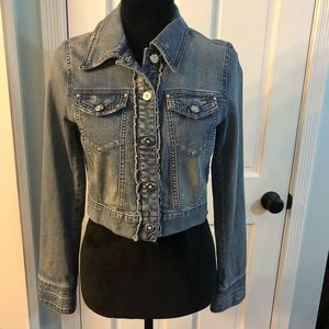 WHBM White House Black Market denim jacket size 2
